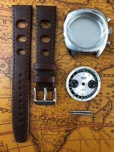 Retro ARSA Uhrenkit Chronograph für ETA Valjoux 7733 SWISS MADE Uhrengehäuse