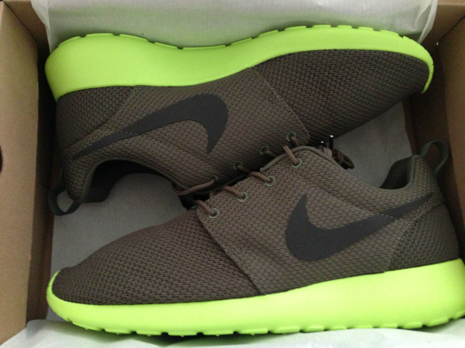 Mens Nike Roshe Run Sport OG Rare Limited Rosherun Tarp Green Deep Smoke Volt