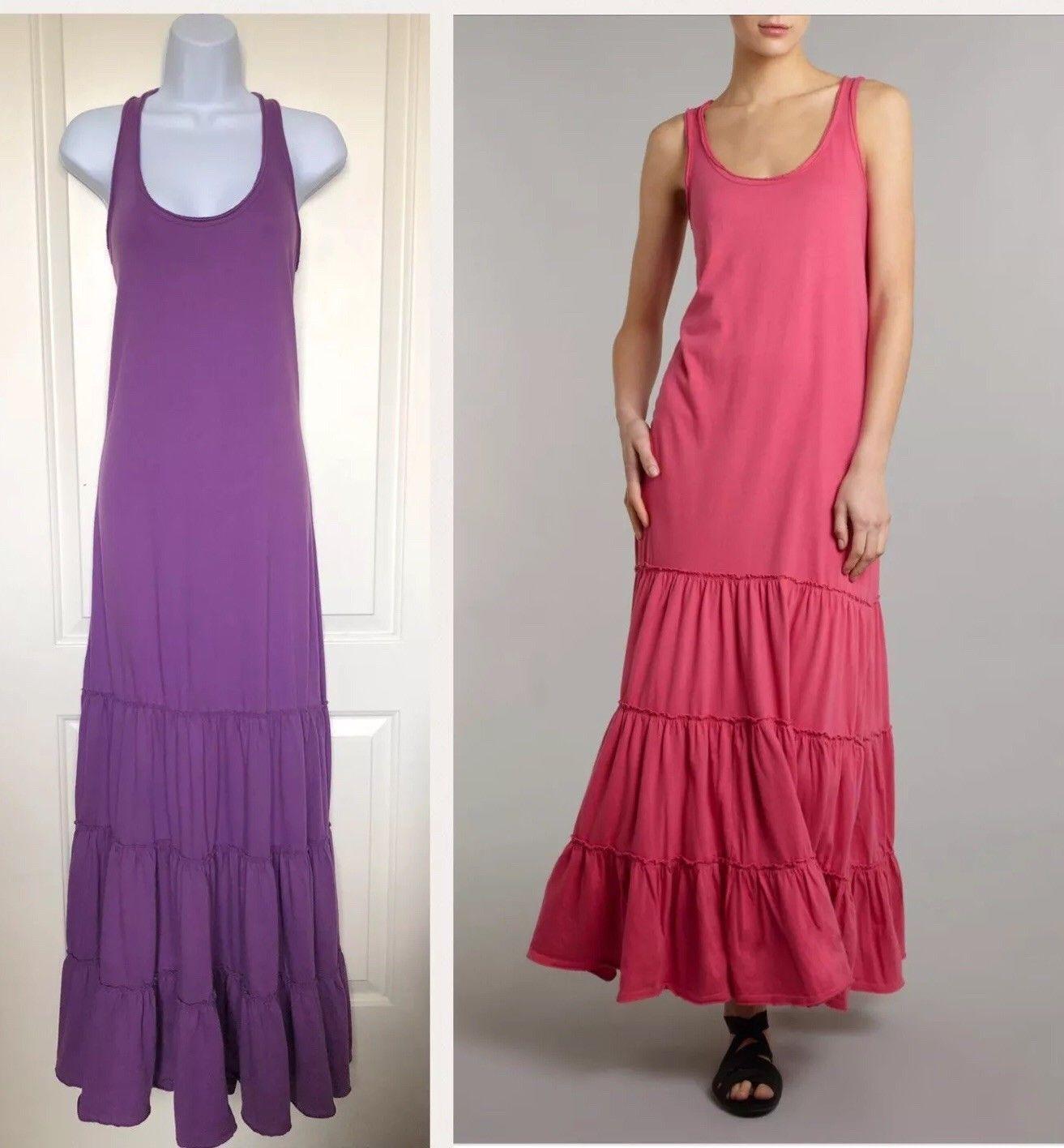 NWT Denim And Supply Ralph Lauren damen's lila Maxi Tank Dress Tierot  Sz M