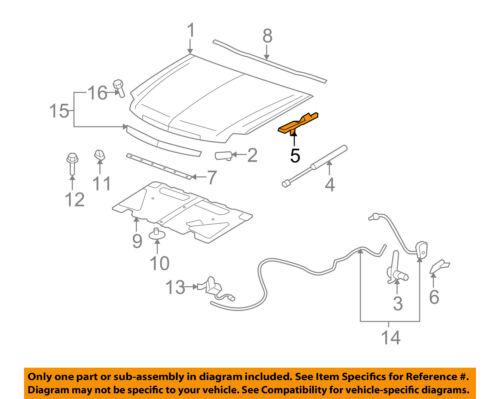 GM OEM HOOD-Hinge Assembly Right 15942146