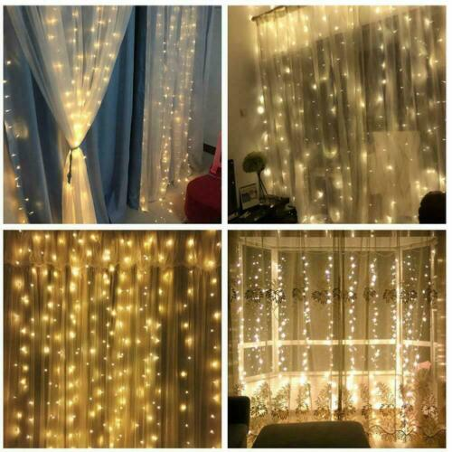 100 LED 10m Fairy Curtain String Lights Wedding Party Room Decor Perfect Holiday