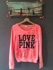 "PINK Victoria's Secret Top Sweater ""Love Pink"" Printed Sz S"