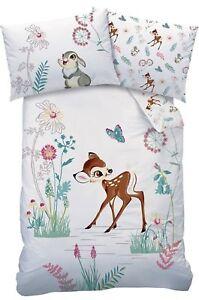 Disney Bambi Baby Bettwäsche 100x135 40x60cm Reh Waldtiere Hase