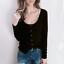 Women-Long-Sleeve-Scoop-Neck-Button-Tops-Casual-Slim-Basic-T-Shirt-Jumper-Blouse thumbnail 2