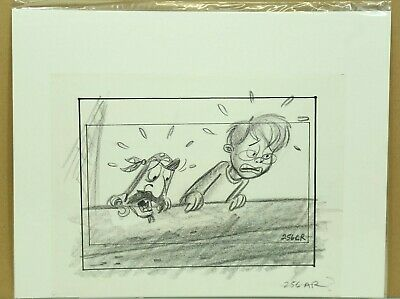 The Pagemaster Original Production Art Animation Hand Drawn Sketch W Coa 25 7 Ebay