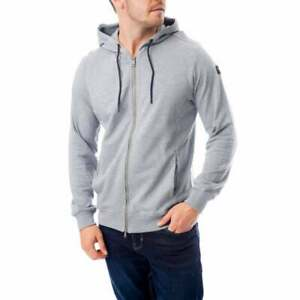 PAUL-amp-SHARK-Homme-Patch-Logo-Zip-Sweat-a-capuche-Gris