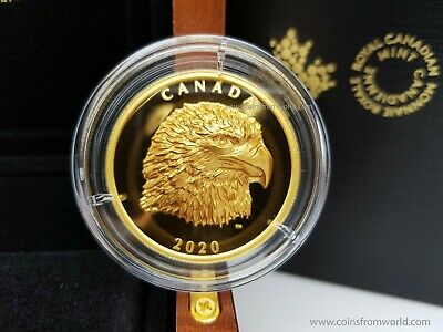 Canada 2020 25$ Proud Bald Eagle 1 oz Pure Silver EHR Coin Royal Canadian Mint
