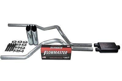 "Chevy GMC 1500 07-14 2.5/"" Dual Exhaust Kit Flowmaster Super 44 Slash Tip Side"
