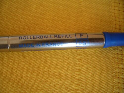 PARKER REFILL ROLLER RICAMBIO STANDARD PUNTA  F 0,5 6KD  BLU  MADE IN FRANCE !!!