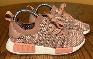 Women S Adidas Nmd R1 Primeknit Stlt Raw Pink White Rose Gold Size 6 5 Pk Ebay