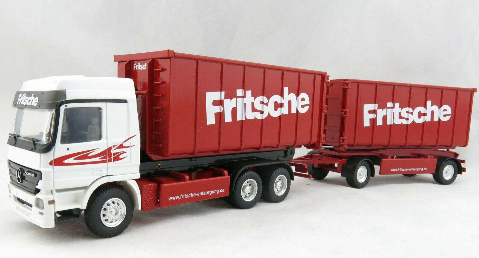 Conrad 40156 0 Mercedes Actros 3-axle ReRadfahren Roll-Off Container FRITSCHE 1 50