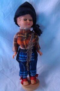 Alte-Puppe-Celluloid-18-cm-1970-Spielzeug-A42-HANDARBEIT