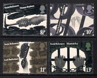 GB 1976 Social Reformers SG 1001/1004 Set of 4 Mint MNH