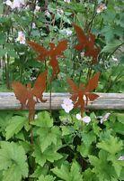 Edelrost Elfen 4 X Dekoration Garten Terrasse Beet Elfe Figur Flügel Zauberwald