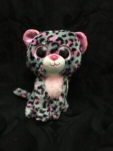 "TY Beanie Babies Boo's Tasha Leopard 6"" Stuffed Collectible Plush Toy New"