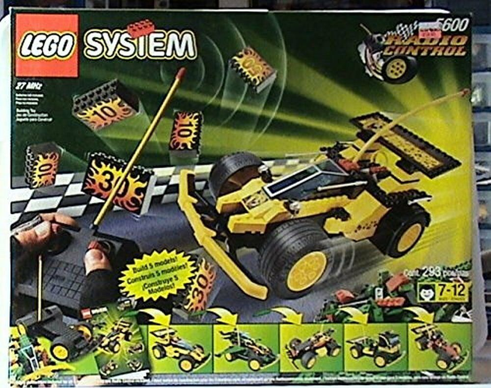 Lego 5600 Radio Control Racer Gelb Racing Car Rare 1998 New Sealed