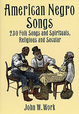 American Negro Songs Learn to Play Gospel Blues Spirituals Piano Music Book Tune