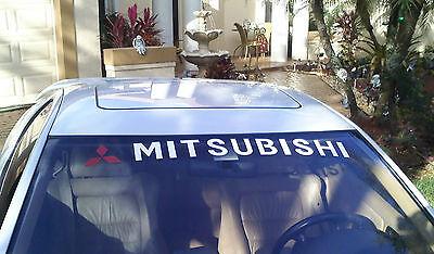 New MITSUBISHI Logo Windshield Hatch Vinyl Decal EVO 3000GT Eclipse Starion JDM