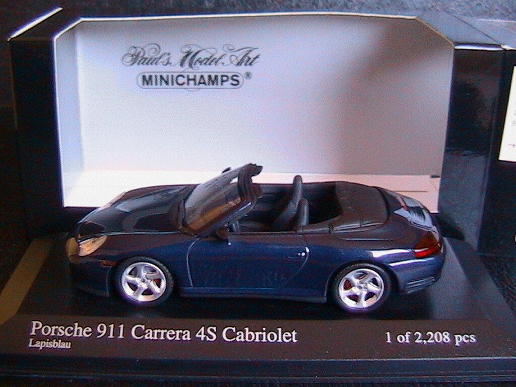 PORSCHE 911 CARRERA 4S CABRIOLET LAPISbleu 2003 MINICHAMPS 400062832 1 43 bleu