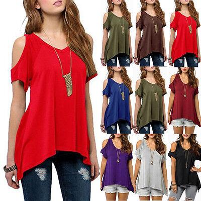Women Summer Loose Tops Shirts Short Sleeve Blouse Ladies Casual Tops T-shirts