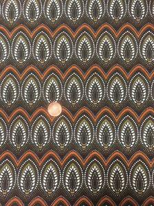 Origins By Jennifer Young P795 Brown Stripe 100/% Cotton Fabric Benatex