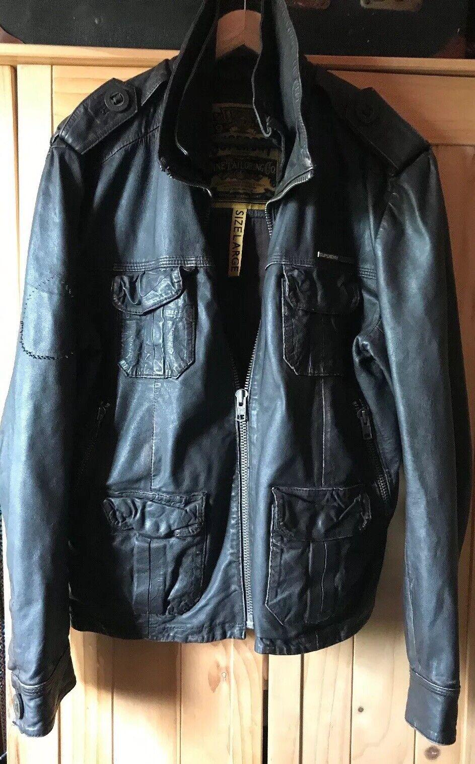 Superdry Brad braun leather jacket, vintage vintage vintage