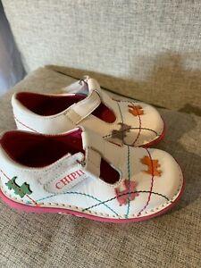"""Brand New Designer French """"Chipie"""" Girls Shoes White RRP £47.99 JNR UK 9"""