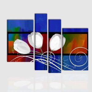 Quadri Dipinti A Mano Moderni Astratti Su Tela Blu Quadro Astratto