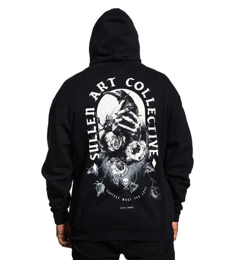 Sullen Clothing One More Fix Tattoo Ink Zip Up Hoodie Mens Sweatshirt SCM2176