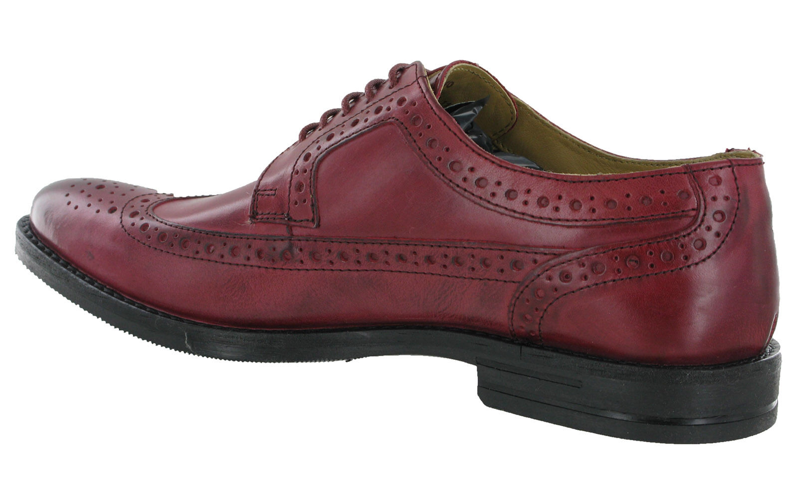 Base London Milton Brogues Leder Formal Lined 5 Eye Lined Formal Lace Up   Herren Schuhes UK6-12 d66045