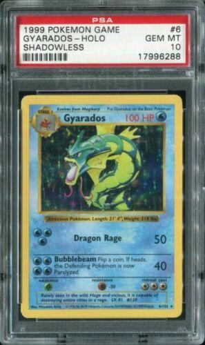 NEAR MINT GYARADOS 6//102 BASE SET HOLO FOIL RARE POKEMON CARD