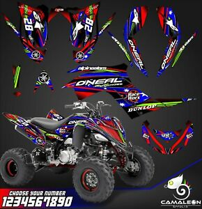 Yamaha Raptor 700r Graphics Kit 2013 2019 Decals Stickers Kit Atv Ebay