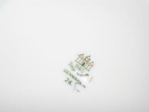 Porcelæn, Måge med guldkant  Frokosttallerken 21,8