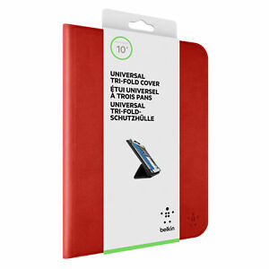 Belkin-Universal-iPad-Tri-Fold-Folio-Cover-Case-amp-Stand-Blue-Red-Air-Mini-Pro