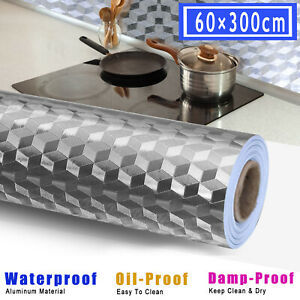 9.9ft Kitchen Home Self Adhesive Sticker Oil-proof Waterproof Wall Decor Paper