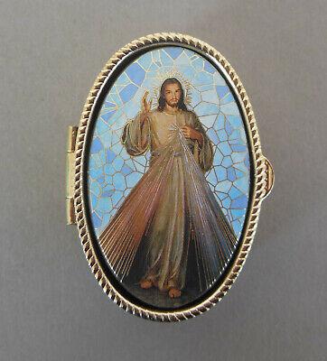 16 Schatulle Etui Mutter Gottes mit Kind für 4 mm Perlen Rosenkranz Nr