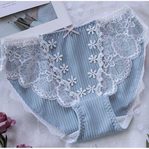 Japanese Cute Women Panties Sweet Lace Underpants Lolita cotton Underwear Briefs