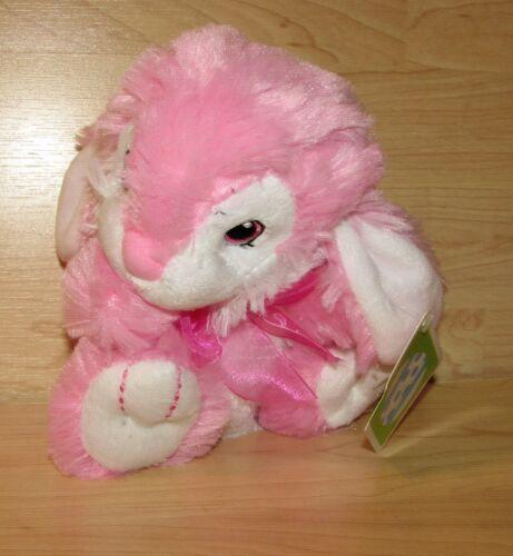 "Dan Dee Hoppy Hopster Plush Easter Bunny Rabbit 2016 Pink White 6/"" NWT Walmart"