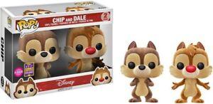 Disney Funko POP Flocked Animation Chip /& Dale Exclusive 2-Pack Vinyl Figure