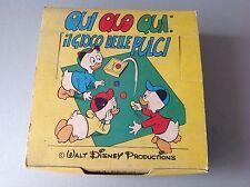 70s GIOPLAST walt disney huey dewey louie qui quo qua  fleas mini board game