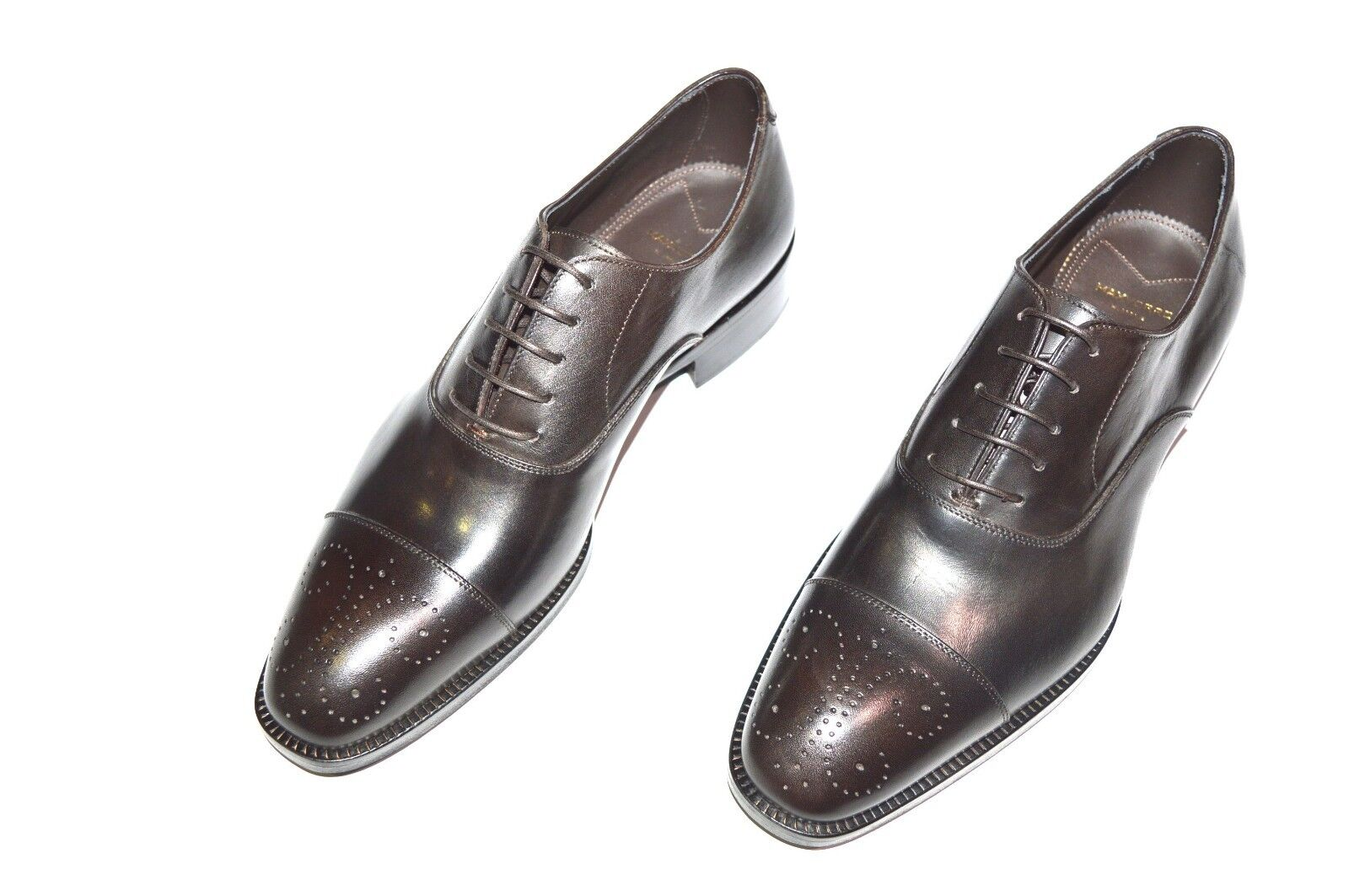 New  MAX VERRE Dress Leather Luxury scarpe Dimensione Eu 43.5 Uk 9.5 Us 10.5 (Cod 150)
