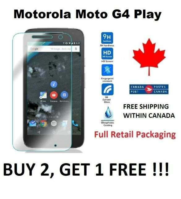 For Motorola Moto G4 Play - Tempered Glass Premium hard Screen Protector Cover