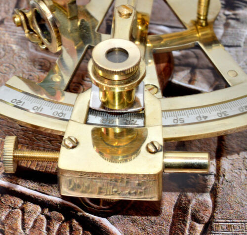"Maritime Ship Instrument Marine Solid Brass 5/"" Nautical Sextant"