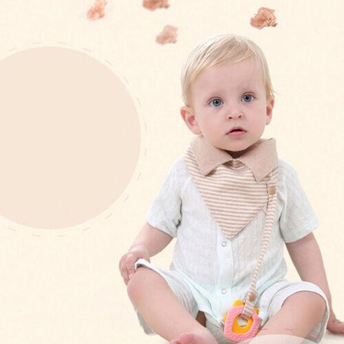 Cute Baby Bandana Bib Striped Triangle Toddler Feeding Bibs Teething Kids Hot J