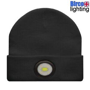 ac22236b4 Details about UNILITE BE-02+ Black LED USB Rechargeable Beanie Hat Head  Light Torch 150 Lumen