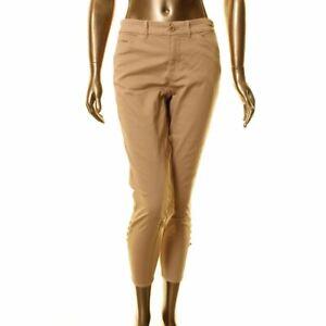 LAUREN-RALPH-LAUREN-NEW-Women-039-s-Tan-Petite-Buttoned-hem-Casual-Pants-4P-TEDO