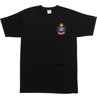 Activewear Crooks And Castles Crown Crest Black T Shirt Cc990712blk Agreeable Sweetness
