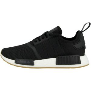 Adidas-Nmd-R1-Men-039-s-Shoes-Originals-Leisure-Trainers-Black-B42200