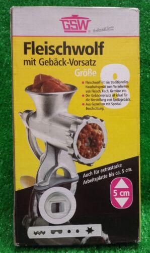 neuer GSW FLEISCHWOLF mit Spritzgebäck Vorsatz Grösse 8 schneller Versand!!!!!