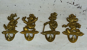 image is loading vintage 4 piece set disney brass coat hooks brass coat hook pieces